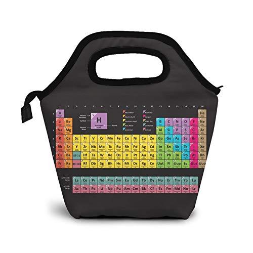 Table of The Elements Chemistry - Bolsas de almuerzo pequeñas para mujeres, niños, impermeable, aisladas, para el trabajo, la escuela