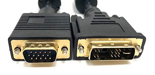 Micro Connectors M05-159 6-Feet Analog to HD15M Video DVI Cable