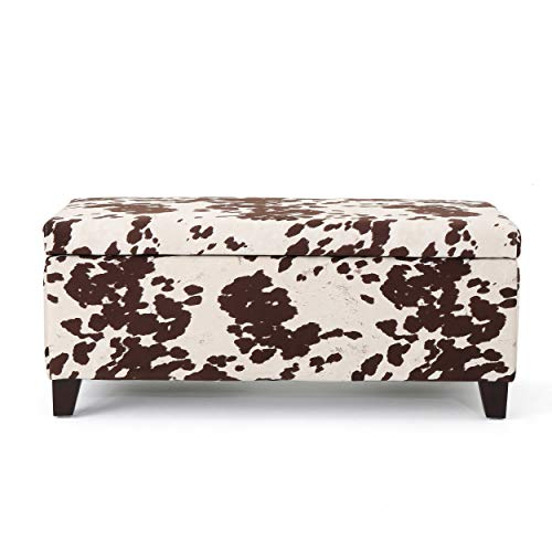 Christopher Knight Home Breanna Storage Ottoman Bench, Milk Cow Print