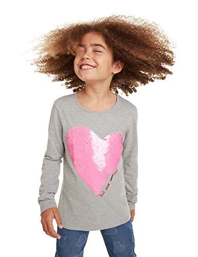 Desigual T-Shirt Virginia Camiseta de Manga Larga, Gris (Gris Vigore Claro 2042), 6 años para Niñas