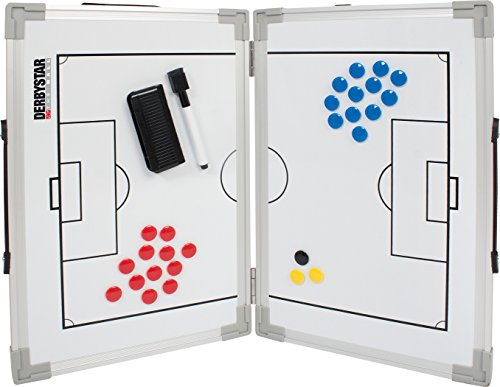Derbystar Taktiktafel Faltbar Pizarra táctica, Unisex Adulto, Blanco, 60x45cm