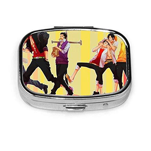 O-nePiec-e Ace Pill Box Caja decorativa personalizada Soporte para tableta para bolsillo