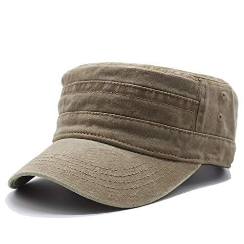 Estilo militar del Ejército Army Cap premium clásico sombrero de los hombres de bajo perfil verano 100% algodón ajustable violinista Sombrero Ejército Cadet Llanura del sombrero unisex x ( Color : A )