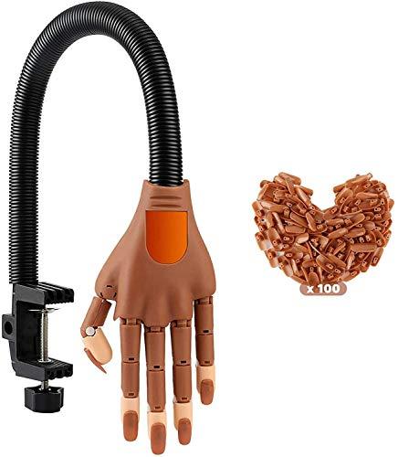 MAZ Nagel-Training-Praxis Hand-Kits, Flexible Bewegliche Gefälschte Hände Für Nagel-Maniküre-Diy-Druck-Praxis-Tool