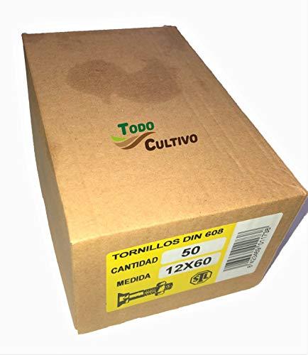 Tornillo de Arado 12X70 DIN 608. Caja 50 Uds. Tornilleria de máxima calidad marca San Lorenzo, con cabeza avellanada especial rejas de arado.