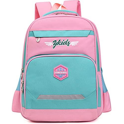 Mochila para Niños Mochila Militar for niños Boy Junior Bag and Monederos Cool Teenage (Color : Pink, Size : One Size)