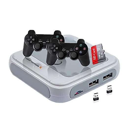 Maidi Consola de Juegos TV Consola de Videojuegos Juegos Retro y periféricos Accesorios Mini Juego de Consola de la niñez Juegos Clásicos Gris-128G de la UE