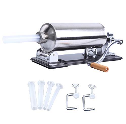 XuanYue Machine à saucisses en acier inoxydable Poussoir à saucisses 4,8 l