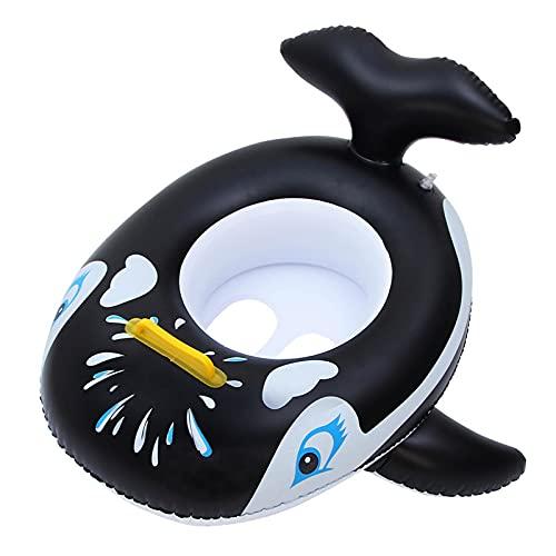JKKJ Anillo de natación para bebé – Pingüino inflable para asiento de natación, barco, para niños de 3 a 36 meses, anillo de natación inflable, 61 cm