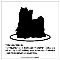 YORKSHIRE TERRIER'S POEMマグネットサイン:ヨークシャーテリア/フルコート(ホワイト/Sサイズ) アメリカの詩 英語 愛犬家 優しさ防犯 マグネットステッカー