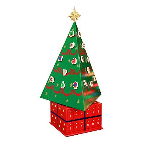 Adventskalenders kerstboom 24 openen laden gevuld snoep kerst decoratie