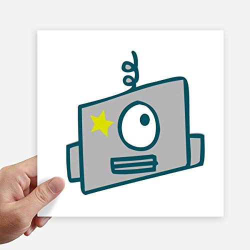 DIYthinker Universum en Alien Single Eye Robot Square Stickers 20Cm muur koffer Laptop Motobike Decal 4 Stks