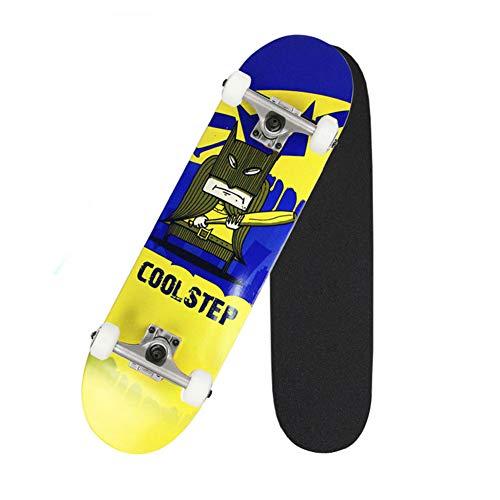 Magic ape Double-Tip 4-Rad-Skateboard, Erwachsene Und Kinder Bürsten Street-Skateboard, Komplette Roller, Anime-Serie Muster, Kann 200 Kg Tragen,D1
