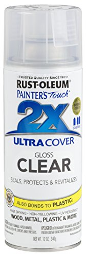 Rust-Oleum 249117-6 PK Painter's Touch 2X Ultra Cover, 6 Pack, Gloss Clear, 6 Can