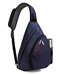 ✅【Design】 - 11 * 6 * 17 Inch (L x W x H) ✅【Easy To Carry To Wherever Fits You Best】 - This sling bag has a reversible strap that gives you the option to change where you want to rest it on by clipping to the right or left the bottom loop. ✅【Breathabl...