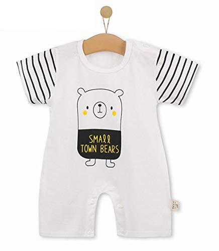 Unisex-Baby Infant Wide Short Sleeve Animal Cartoon Bodysuit Bodys BB@TZZ08W-0106