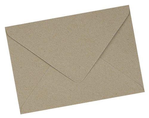 Pier Paper Co–100x C5enveloppes kraft recyclé Marron Fleck–162x 229mm