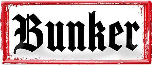 Bunker – Mein Haus 28 x 12 cm Alemán Decoración Cartel de chapa 1184