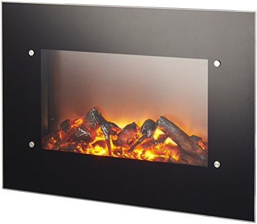 Caminetto elettrico da parete Ruby Fires Varese Potenza 0-1200-1800W con effetto fiamma regolabile Telecomand incluso