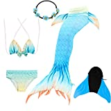 COZY HUT Mädchen Bikini Badeanzüge Schönere Meerjungfrauenschwanz zum Schwimmen mit Meerjungfrau...