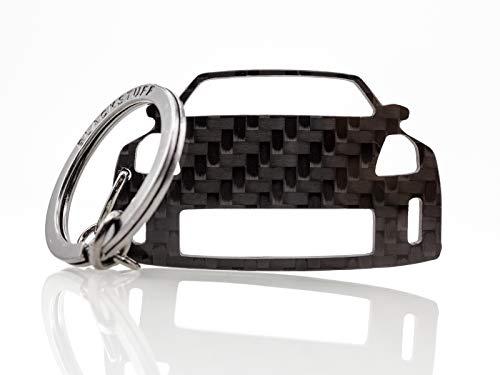 BlackStuff Porte-Clés en Fibre De Carbone Compatible avec 350Z Z33 2002-2008 Voiture