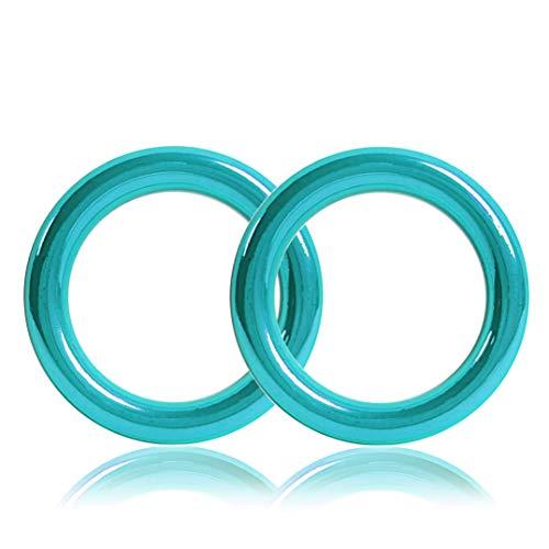 Ganzoo O - Ring aus Stahl, 2er Set, DIY Hunde-Leine/Hunde-Halsband, nichtrostend, Ideal mit Paracord 550, geschweißt, Farbe: türkis
