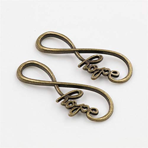 GMYANED 39X15Mm 10Pcs Antique Silver Plated Bronze Plated 8 Infinity Handmade Charms Pendant