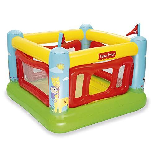 Lowest Price! Fisher-Price 69 x 68 x 53 Inch Kids Indoor/Outdoor Bouncetastic Bouncer Inflatable Bou...