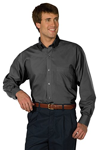 Edwards Garment Men's Big And Tall Easy Care Poplin Shirt_STEELE GREY_S