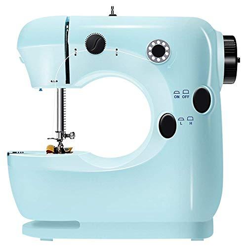 Naaimachines Mini Beginner Naaimachine 2 Speed Embroidery Stitching Heavy Duty Machine gemakkelijk te gebruiken voetpedaal ZHQHYQHHX (Color : Blue, Size : 1)
