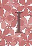 I: Monogram Initial 'I' Notebook for Girls and Women, Pink Floral 7x10 100 pages