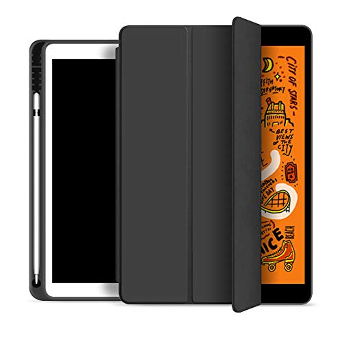 For Ipad Air 4 10.9 Case With Pencil Holder Cover For Ipad 10.9 10.2 10.5 11 A2324 A2072 A2316 A2325 Ipad 7 8 2020 Magnetic Case (Color : Black, Size : Mini 4 5)