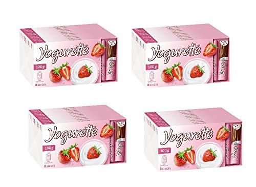 40 Tafeln a 100g Ferreo Yogurette Gefüllte Vollmilchschokolade mit Magermilchjoghurt-Erdbeer-Creme.