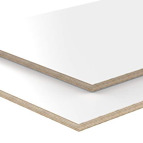 12mm Multiplex Zuschnitt 46,5 x 10 cm B-Ware weiß melaminbeschichtet unbehandelt Restposten verschiedene Größen und Stärken zur Auswahl: Art.nr. 993-2-147 465 x 100 x 12 mm