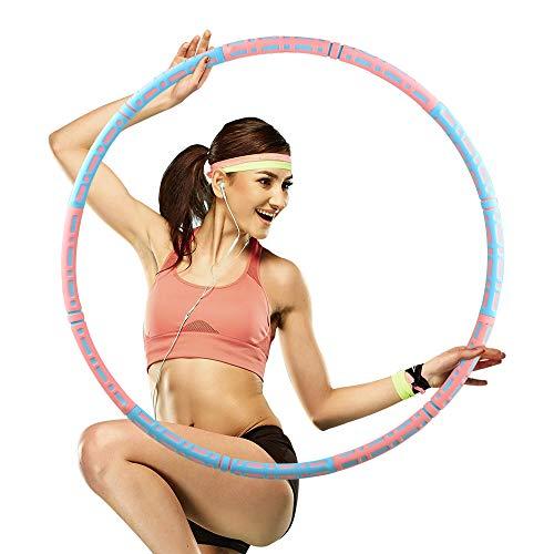 Beedove Hula Fitness Hoop, Professionale 90cm 1-4kg Regolabile Peso Exercise Hoop, Acciaio Inossidabile con Schiuma, Fitness Perdita di Peso Massage Yoga Hula Cerchio Hoop per Adulti