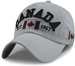 FBXYL Marke Kanada Brief Baumwolle Stickerei Baseballm/ützen Snapback Hut F/ür M/änner Frauen Freizeit Hut Kappe