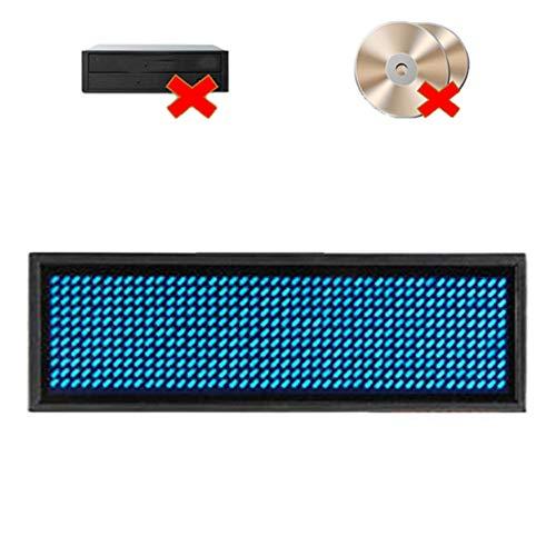 Ausweise, LED-Namensschild, wiederaufladbare LED-Abzeichen, Built-In-Software für Windows, keine Notwendigkeit, CD & Treiber, Visitenkarte Bildschirm-Zeichen (Blue)