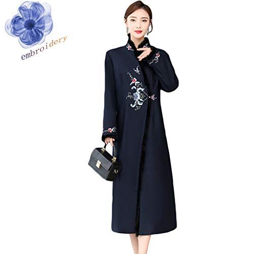 Priority Culture Damesjas, halflange mouwen, retro-mantel voor dames, in Chinese stijl, herfst en winter