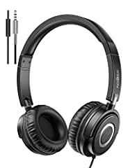 40 mm driver units of the on ear headphones deliver full, balanced sound for a complete listening experience from 20 - 22,000 Hz Designed with padded headband, cushioned & pressure-relieving ear pads that rest comfortably on your ears. Strong bass, c...