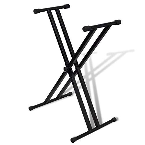 vidaXL Keyboardständer X-Form Keyboard Ständer Stativ Keyboardstativ E-Piano