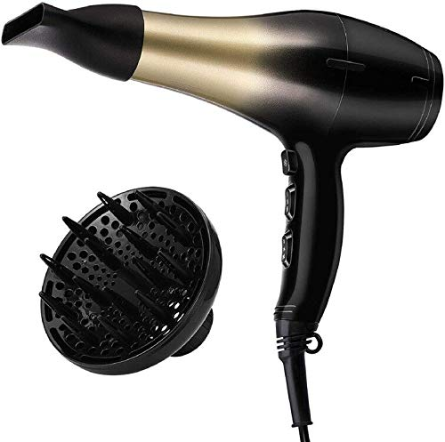 KIPOZI 2200W Hair Dryer Lightweight Blow Dryer with diffuser and airflow concentrator, Fast Drying...