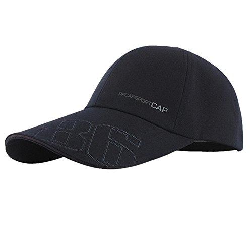 careforyou® SunBuster Casquette de baseball unisexe 100 % coton avec fermeture Velcro Couleur réglable Bleu