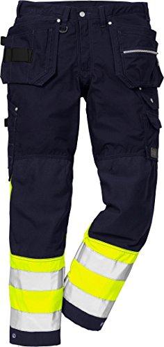 Fristads Kansas Workwear 114026 Arbeitshose Gr. 30W x 32L, Leicht sichtbares Gelb/Marineblau
