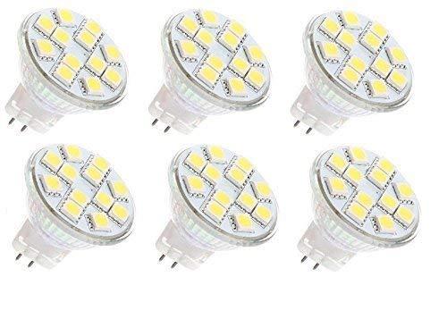 12vmonster 6Pack AC DC 12V 24V 3W 12x 5050Cluster LED Lampe warm weiß MR11GU4Bi Pin Lampe