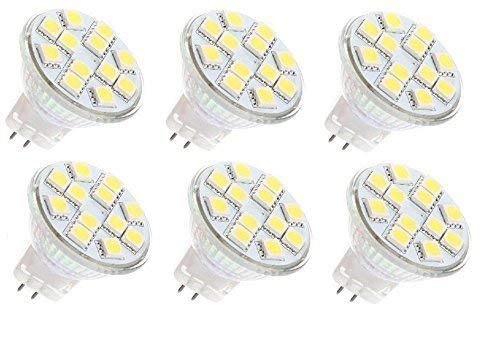 12 vmonster 6 Pack AC DC 12 V 24 V 3 W 12 x 5050 Cluster LED Lampe warm weiß MR11 GU4 Bi Pin Lampe