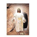 YYAYA.DS Cuadro de Lienzo Pintura al óleo Famosa Religiosa de Cristo Jesús sobre Lienzo Carteles e Impresiones Imagen artística de Pared escandinava 60x90cm
