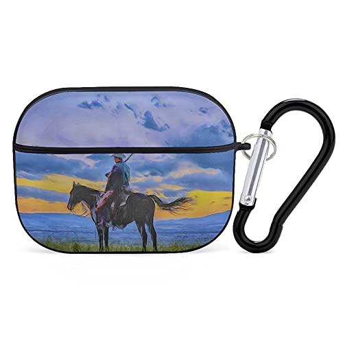 Cowboy Silhouette - Funda para auriculares con Bluetooth para iPhone AirPods 3, carcasa rígida suave y resistente a las manchas.