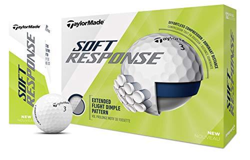 TaylorMade TM20 Soft Response Dzn - Pallina da golf, unisex, taglia unica, colore: Bianco