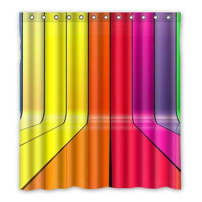 Dalliy Brauch farbige Wasserdicht Polyester Shower Curtain Duschvorhang 167cm x 183cm