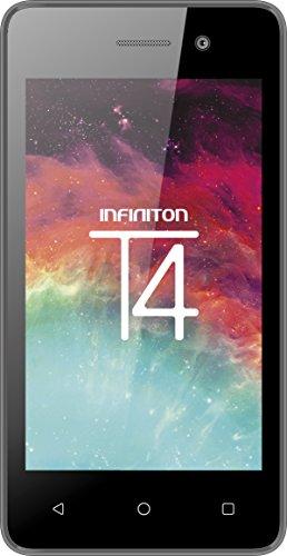 """Infiniton Electronics - Smartphone Infiniton T4(nero), Quad-Core da 1 GHz, schermo da 4"""", 512 MB di RAM, fotocamere: posteriore da 5 MP e anteriore da 0,3 MP"""